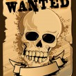 Vintage Wanted Poster with Skull — Stock Vector #8885055