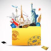 Podróż folderu — Wektor stockowy