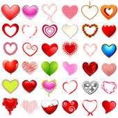 Different style of Hearts — Stock Vector