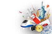 Salpicos de viagens — Vetorial Stock