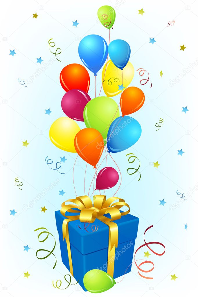 воздушные шары и подарки картинки