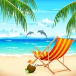 Chair on Beach — Stock Vector #8922751