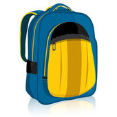 School Bag — Vector de stock