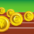 Stock Vector: Currency Race