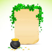 Saint Patrick's Day Card — Stock Vector