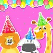 Animal Birthday Party — Stock Vector