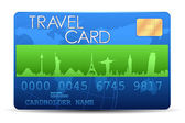 Travel Card — Stock Vector