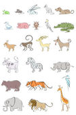 Set of Animal — Stock Vector