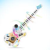 Musikaliska gitarr — Stockvektor