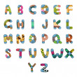 ABC Alphabet — Stockvectorbeeld