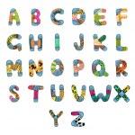 ABC Alphabet — Stock Vector