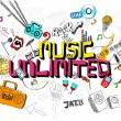Music Unlimited — Stock Vector