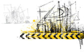 Under Construction Site — Stock Vector