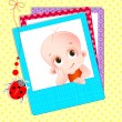 Baby Photograph - Stock Vector