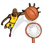Basket Ball Player — Stock Vector #9487871