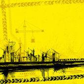 Sous fond de construction — Vecteur
