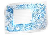 Torna a doodle scuola — Vettoriale Stock