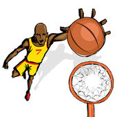 Basket Ball Player — Stock Vector