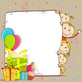 Festeggia il compleanno di bambini — Vettoriale Stock