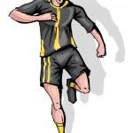 Soccer Player — Stock Vector #9535974
