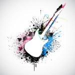 Grungy Guitar — Stock Vector #9569803