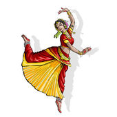 Indian Classical Dancer — Stock Vector
