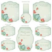 Wedding Reception Invitation Card — Stock Vector