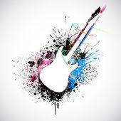 Grungy gitaar — Stockvector