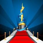 Cinema Award on Red Carpet — Stock Vector