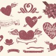 Valentine's day set — Stock Vector #8688757