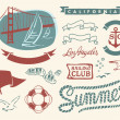 Royalty-Free Stock Vector Image: Vintage nautical set