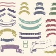 Vintage ribbons set — Stock Vector
