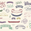 Vintage sale icons set — Stock Vector