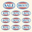 Vintage sale icons set — Stock Vector #9382068