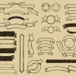 Vintage ribbons set — Stock Vector #9461979