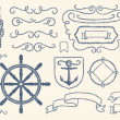 Nautical decoration set — Stock Vector #9830275