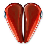 Heart made by motorbike gas tank — Stock Photo