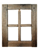Very old grunged wooden window — 图库照片