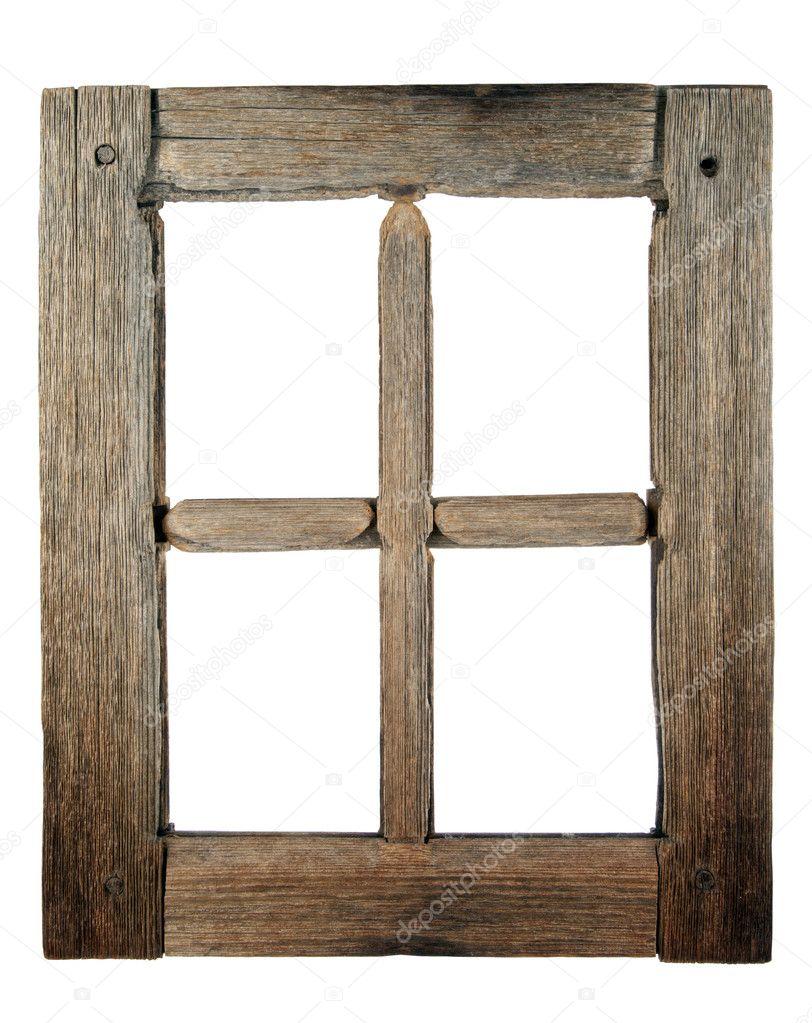 Molto vecchia finestra in legno grunged foto stock - Telaio finestra legno ...