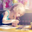 Stock Photo: Baby girl painting