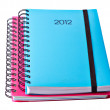 Stock Photo: Blue Diary for 2012
