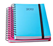Blue Diary for 2012 — Stock Photo