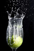 Lime Splash 2 — Stock Photo
