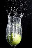 Lime stänk 2 — Stockfoto