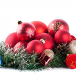 Composition of the christmas balls — Stock Photo