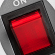 Red power button — Foto Stock