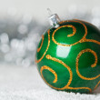 Royalty-Free Stock Photo: Green christmas ball
