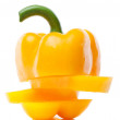 Stock Photo: Fresh yellow pepper