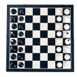 Top view of the chessboard — Foto de Stock