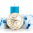 Christmas candles isolated — Stock Photo